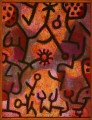 Flora on rocks Sun Paul Klee textured